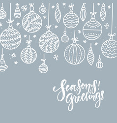 minimalist christmas gray silver background vector image