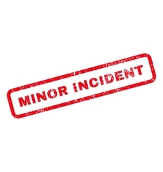 Minor Incident Text Rubber Stamp vector