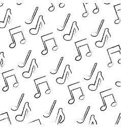 musical note sound melody background pattern vector image
