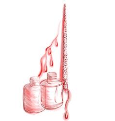 Nail polish tatoo vector