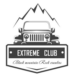 Off-road 4x4 extreme car club logo template vector