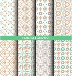 Patterns Pastel Green Backgrounds vector image vector image