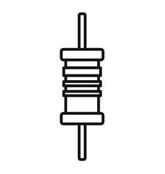 Phone condensator icon outline style vector