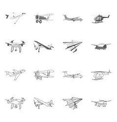 Plane and transport logo vector