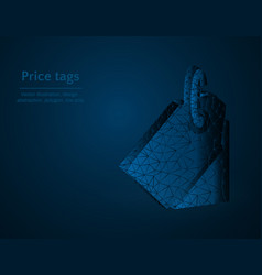 price tag symbol low poly shortcuts polygonal vector image
