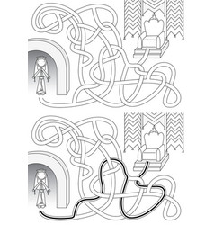 Queen maze vector