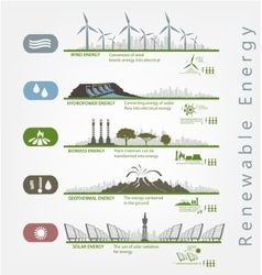 renewable energy in the infographics vector image