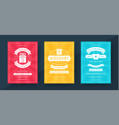 sale banners or posters templates design with vector image