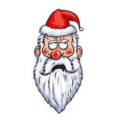 Santa Claus Thoughtful Head vector