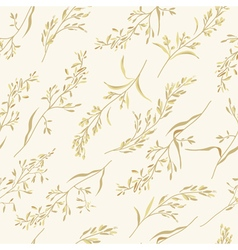 Seamless floral pattern with herbs vector