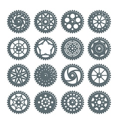 Set of icons bicycle chainring vector