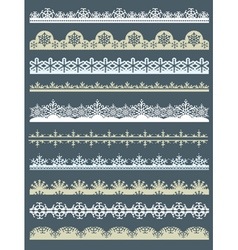 Set of Lace Paper for christmas with snowflakes vector