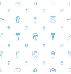Shaver icons pattern seamless white background vector
