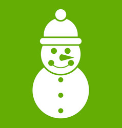snowman icon green vector image