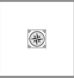Square compass logo design template idea vector