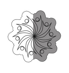 sticker of monochrome abstract figure of teamgroup vector image
