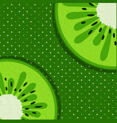 Summer background with kiwi vector