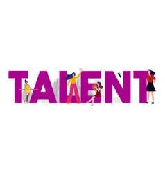 Talent management in sport and art employee or vector