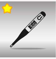 thermometer black icon button logo symbol vector image