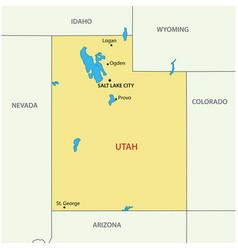 Utah - state usa vector