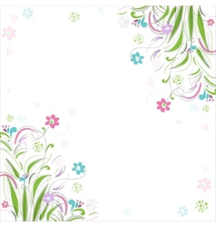Vintage floral background Beautiful frame with vector image