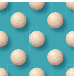 volleyball ball seamless pettern realistic vector image