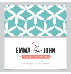 wedding card pattern 03 vector image vector image