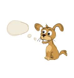 dog hand drawn vector image
