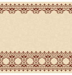 light beige seamless background with border vector image vector image