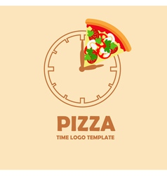 Pizza logo design template vector image vector image