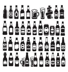 Beer bottles vector