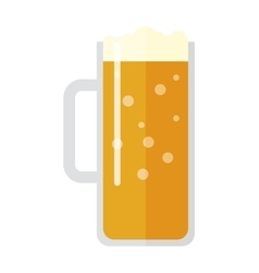 Beer cup isolated vector image