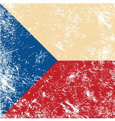 Czech retro flag vector image vector image