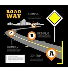Road way design infographics vector image vector image