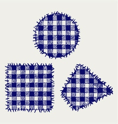 Set patchwork vector image vector image