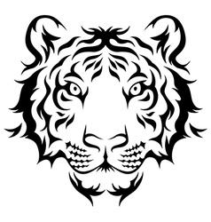 tiger tribal vector image