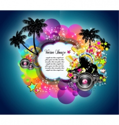 tropical music disco event vector image vector image