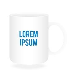 White cup or mug mockup vector image vector image