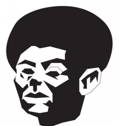 abstract afro vector image vector image