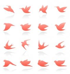 bird logo set vector image