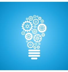 light bulb of gears and cogs vector image vector image