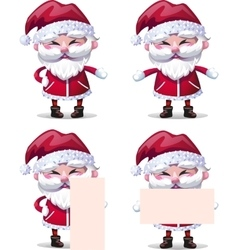 Santa Claus collection of Christmas Characters vector image vector image