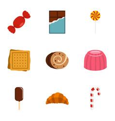 sweet food icon set flat style vector image