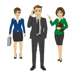 Team of confident young business people vector image vector image