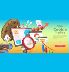 3d conceptual web cookie vector image
