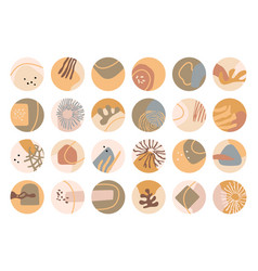 Abstract highlight covers set vector
