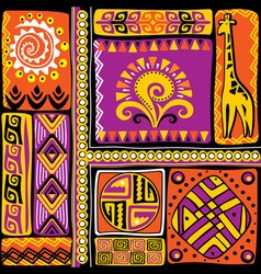afrikan design elements vector image
