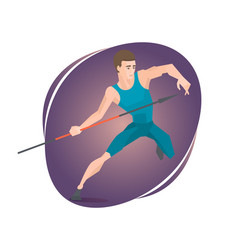 an athlete throwing a javelin vector image