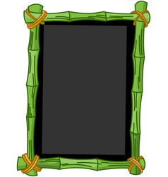 Bamboo chalkboard vector