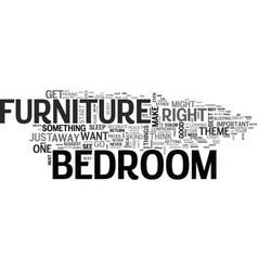 Bedroomfurniture text word cloud concept vector